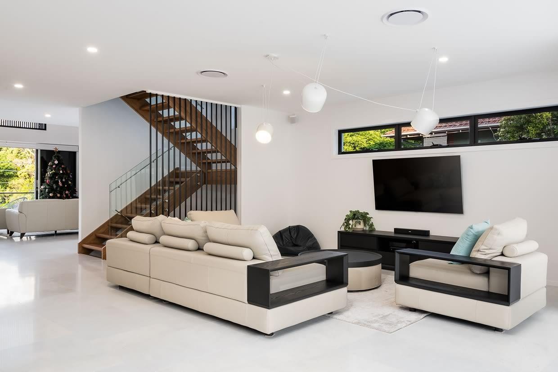 Custom built home lounge Brisbane