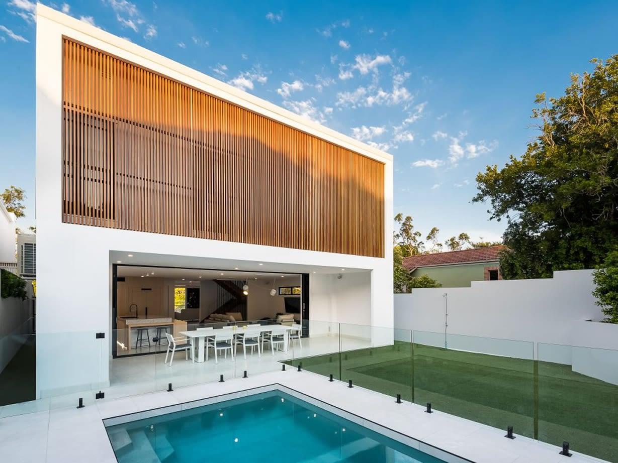 Pool area Luxury custom home