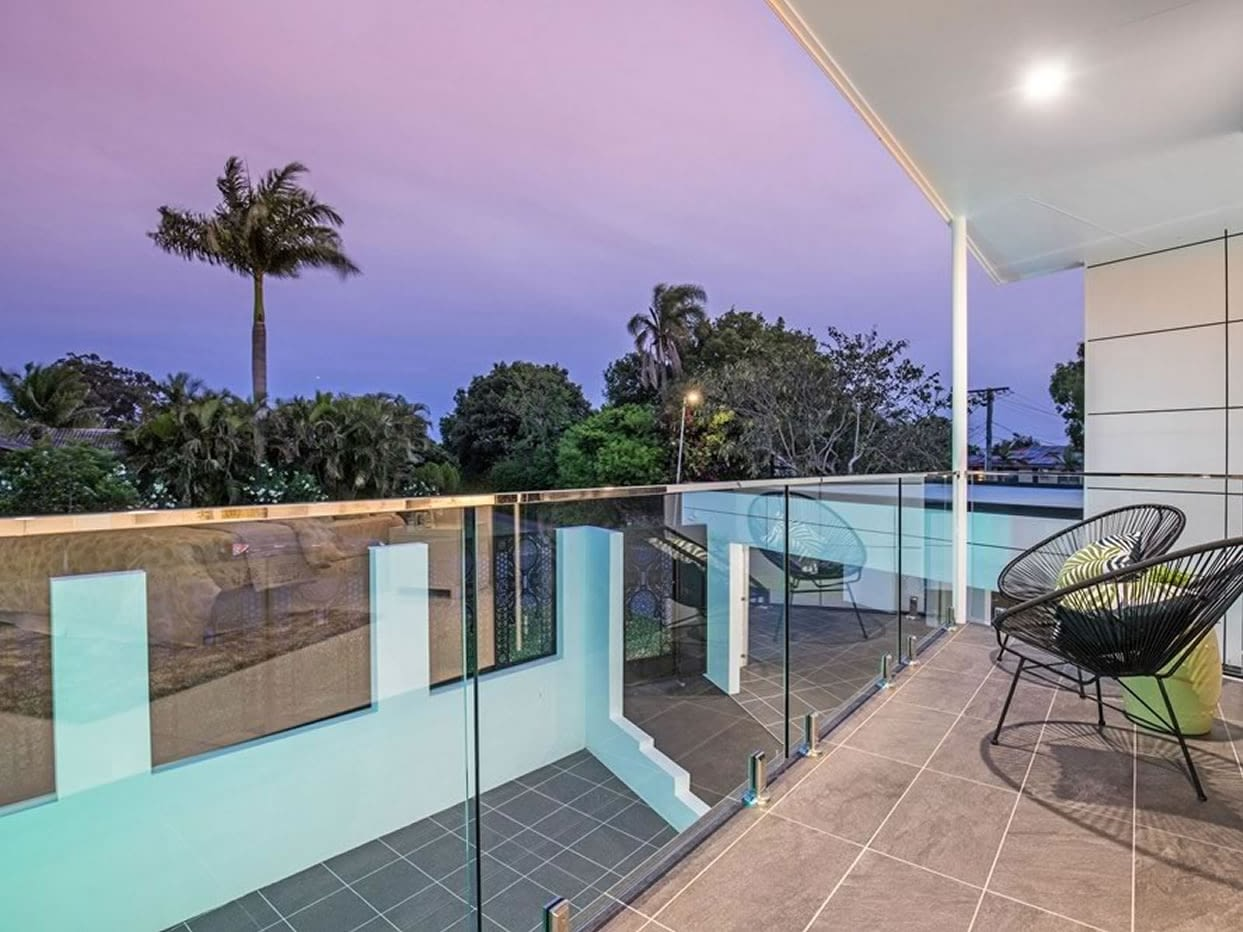 Outboor Balcony view of Custom luxury home built