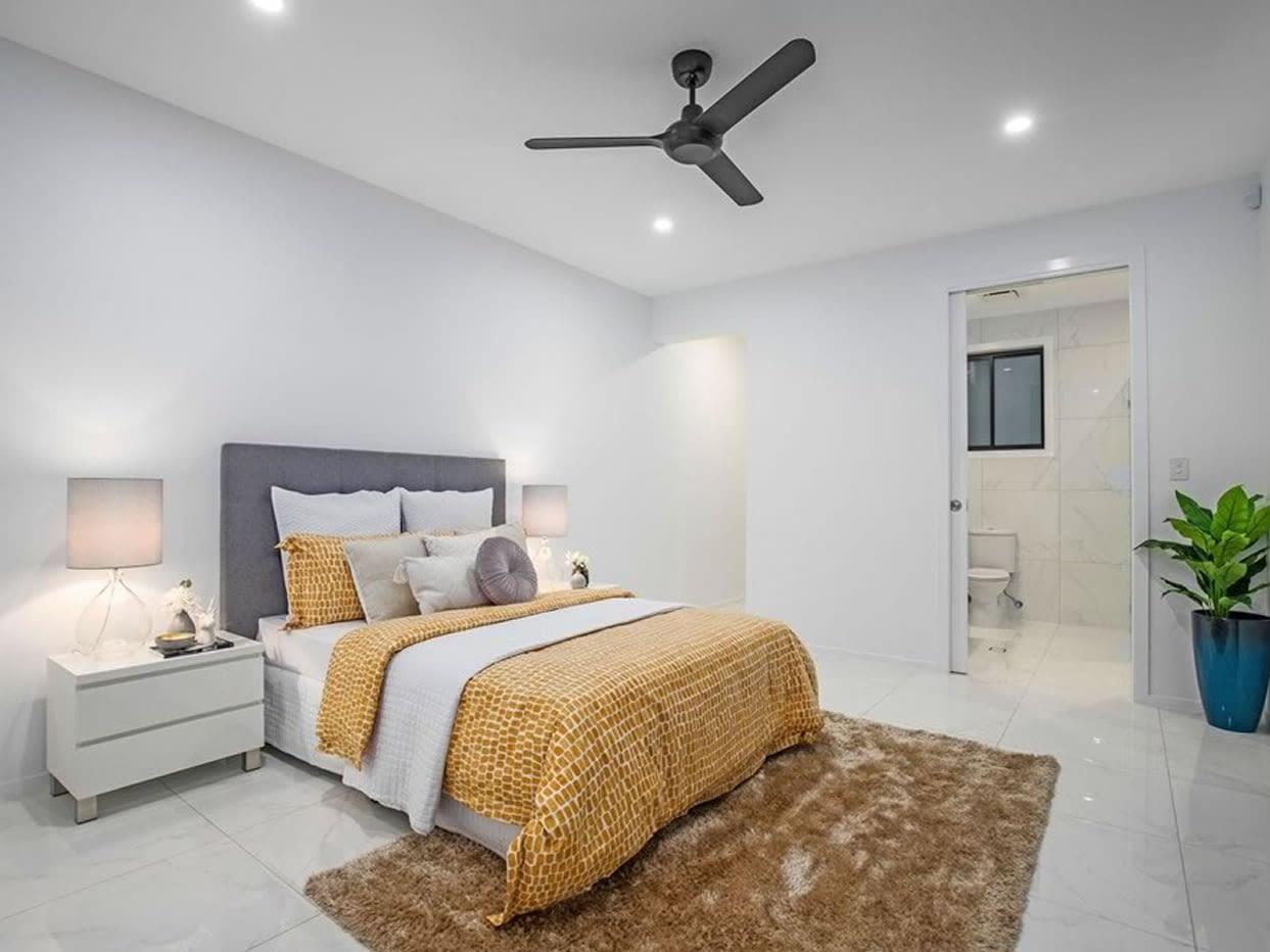 Custom luxury home bedroom