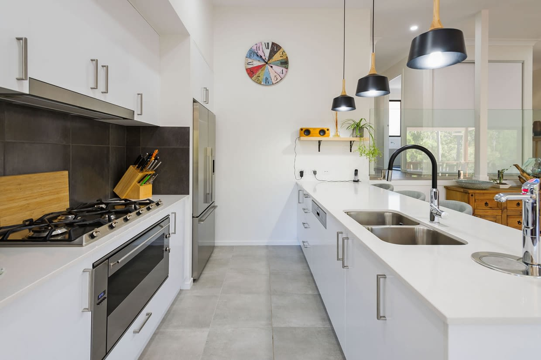 Sloping block kitchen
