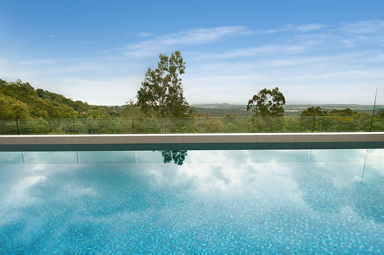 Construction sloping block pool outlook