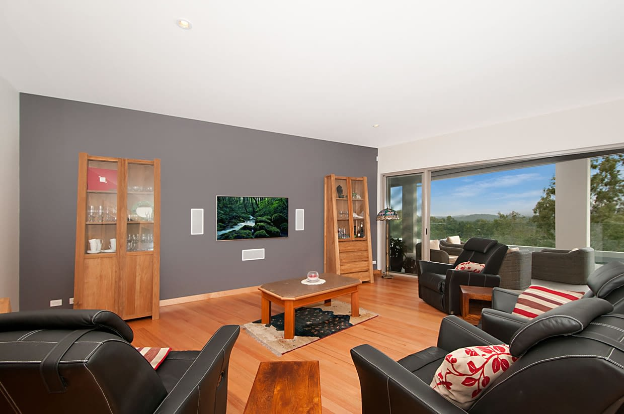Sloping block living area