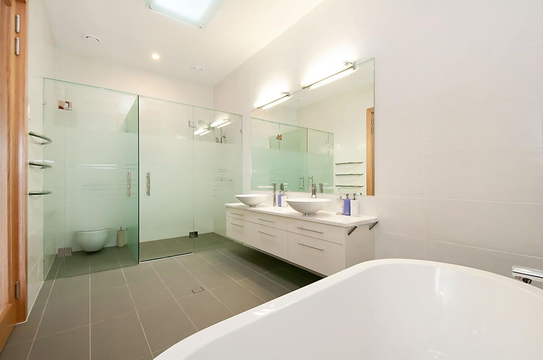 Sloping block bathroom