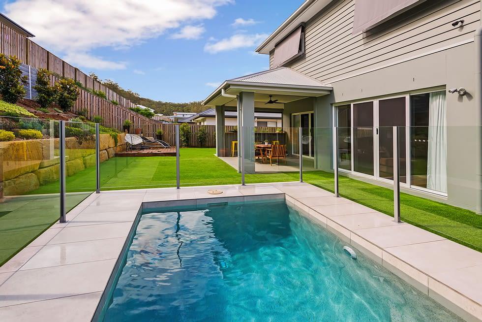 Riverstone Custom Built Home pool area- Brisbane