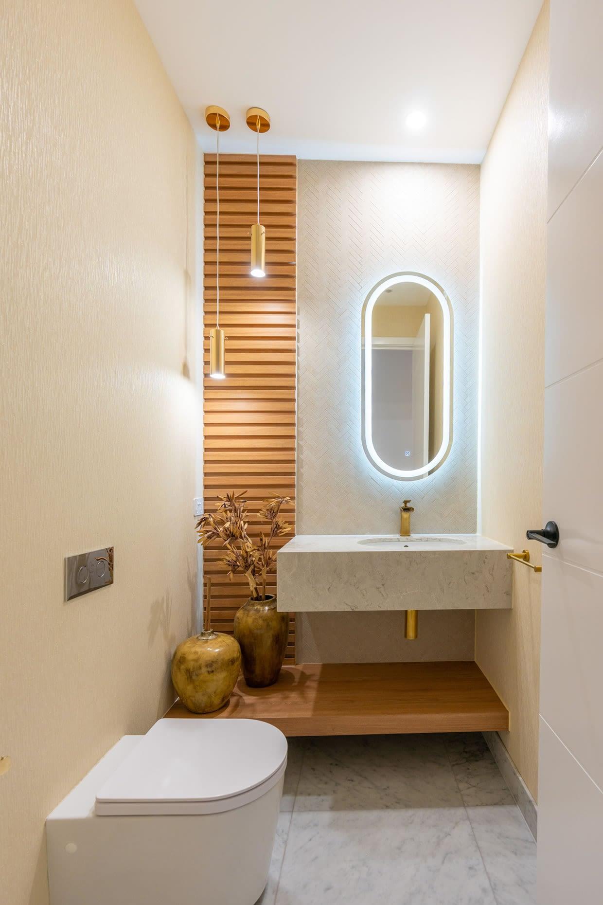 Custom designed bespoke powder room