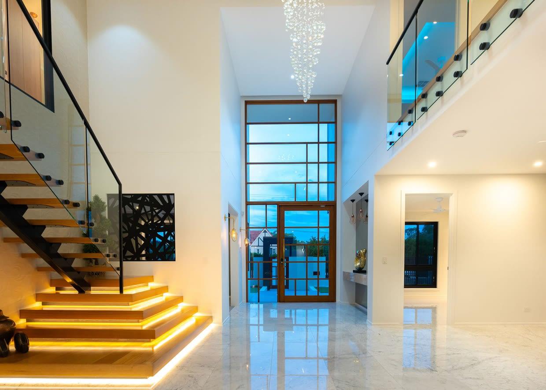 Opulent marble entrance