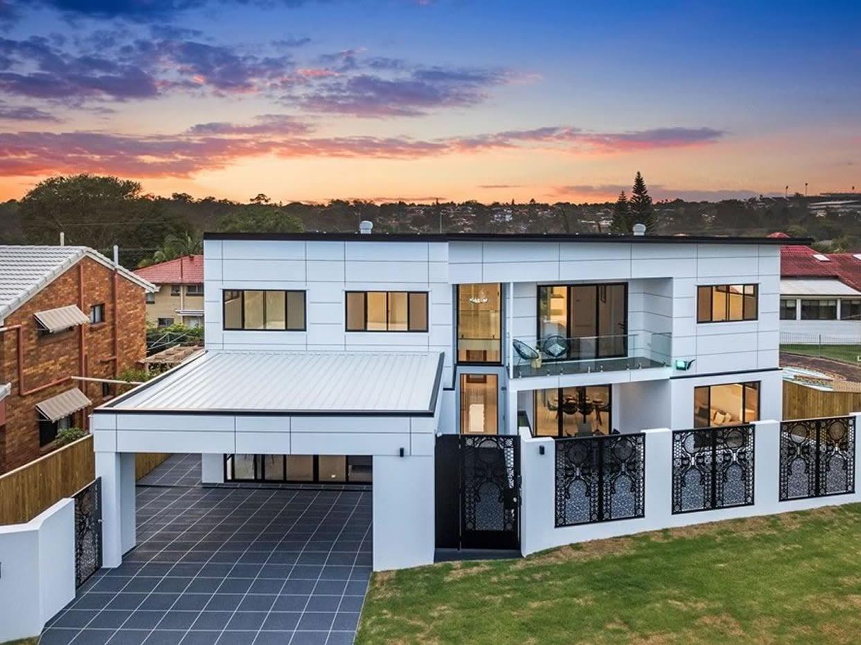 Top view of Custom luxury home built in Nevern