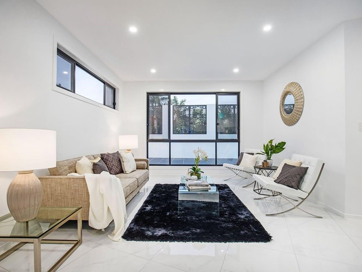 Living area of Custom luxury home built in Nevern